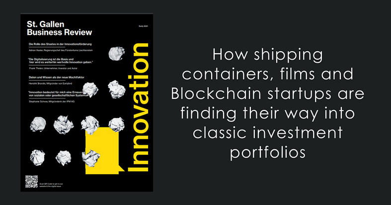 How shipping containers, films and Blockchain startups are finding their way into classic investment portfolios