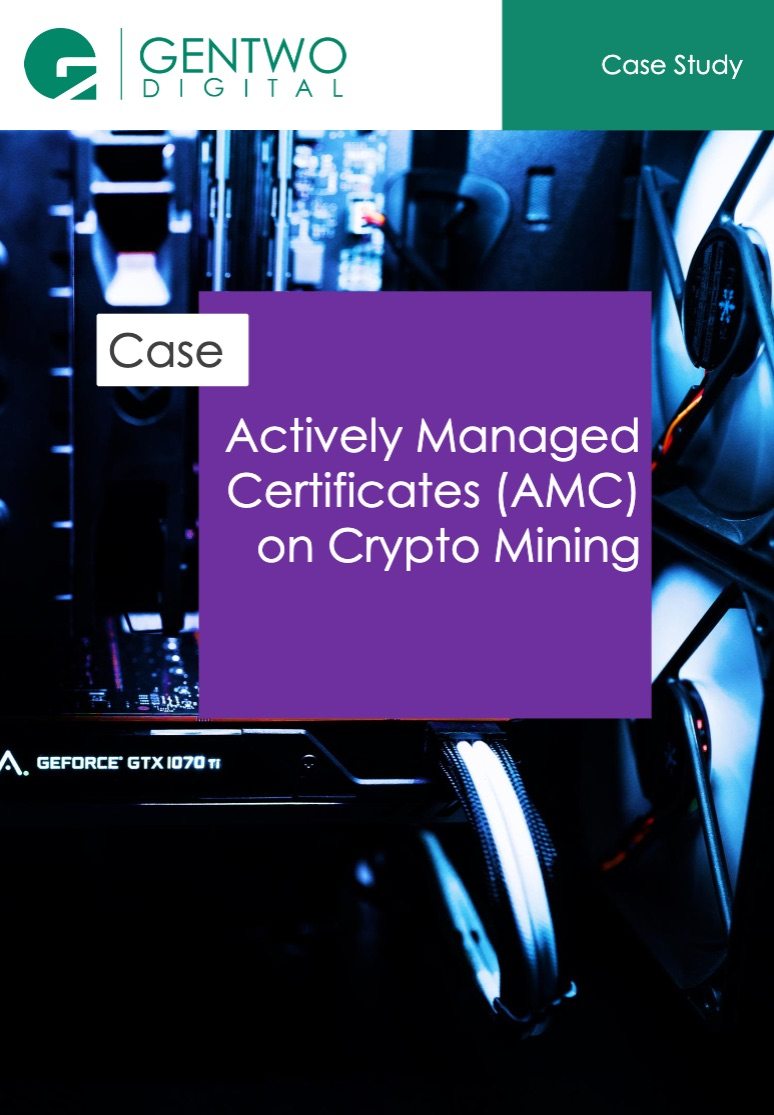 Actively Managed Certificates (AMC) on Crypto Mining